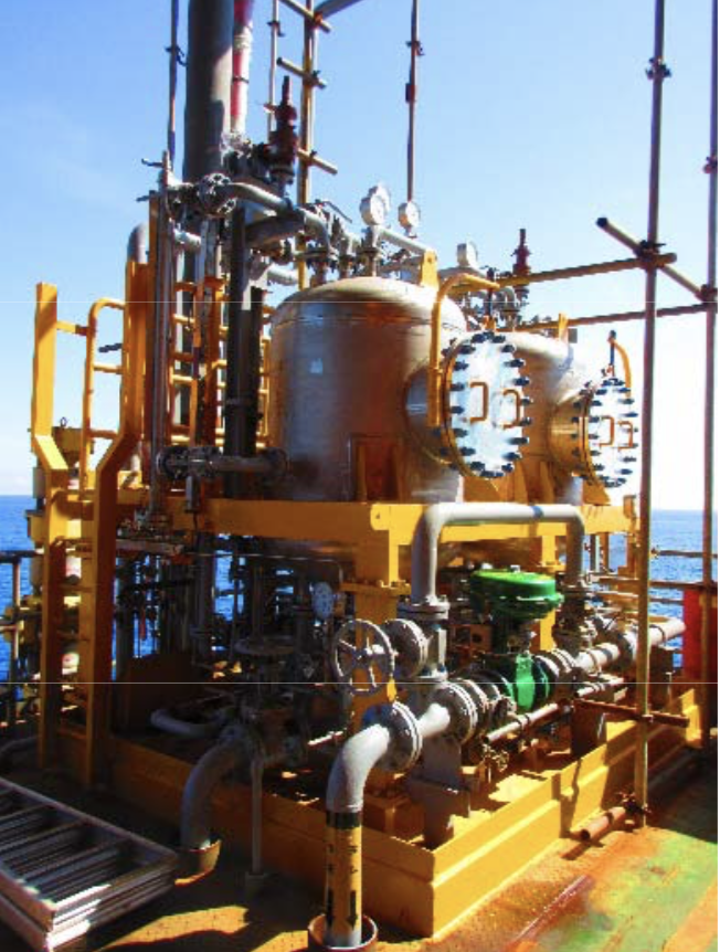 September 2018:  Second commercial CFU installed at CNOOC platform.