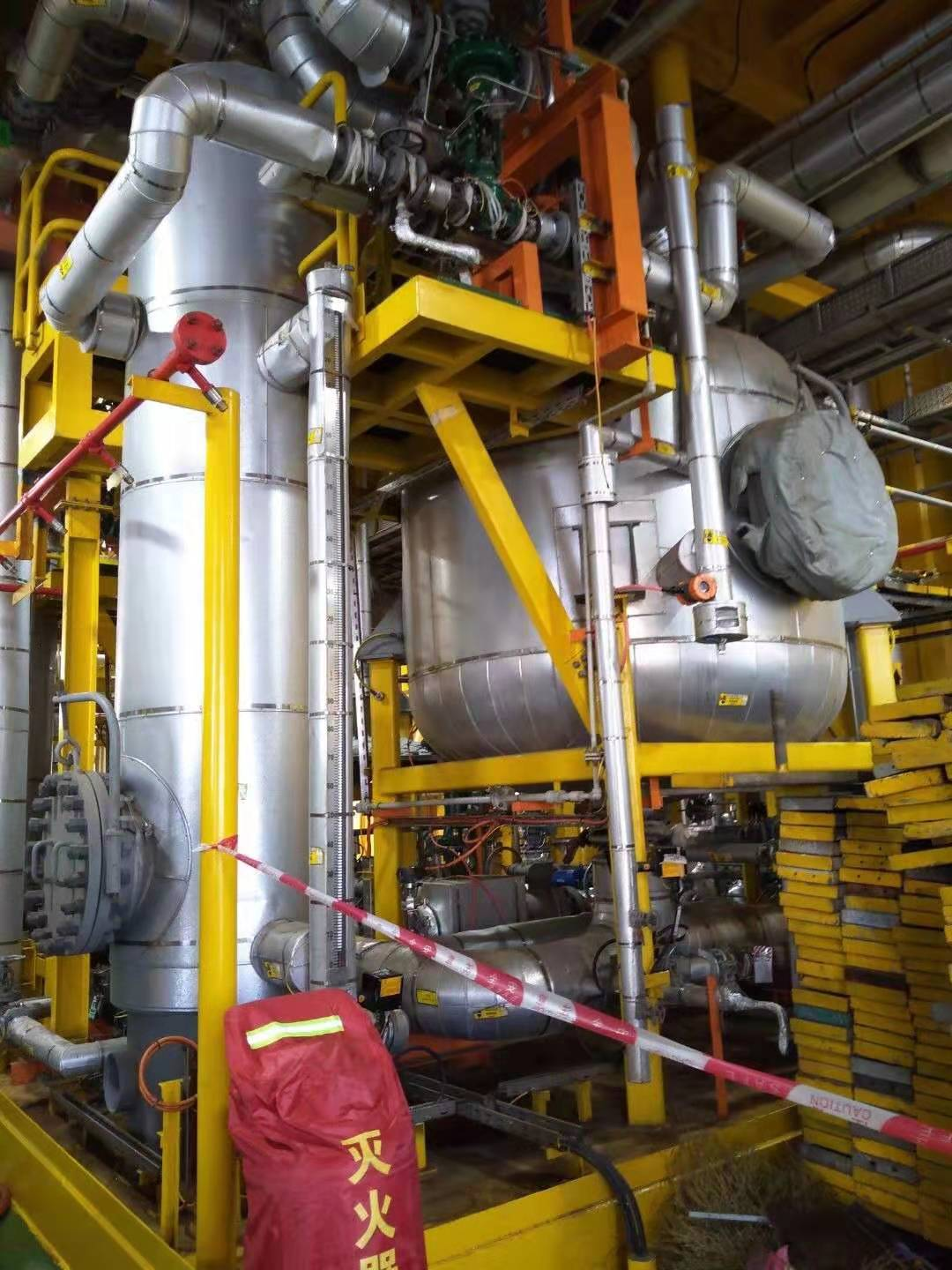CNOOC approves Stauper´s CFUs at Caofeidian Oil Field Development Project. The single stage CFUs package is a Greenfield installation and is removing over 90% of oil in water using no flocculants in the process. Oil in water into CFU is 500 ppm, outlet is stable at below 35 ppm.