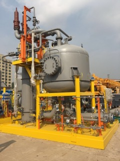 November 2018: The fifth installation for CNOOC is completed and awaiting commissioning. This installation will handle a total of 1,500 m3/hr and will be used at a new field in Bohai Bay.