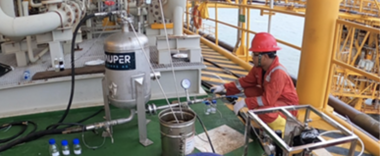 Stauper completes test offshore Indonesia. Successfully removes 97% Oil in Water